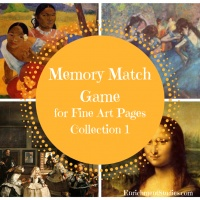 Memory Match Game for Fine Art Pages Collection 1