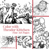 Color with Kittelsen Fine Art Pages