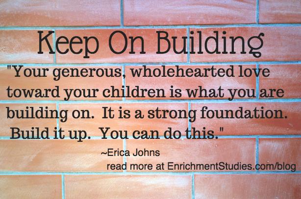 Keep on building