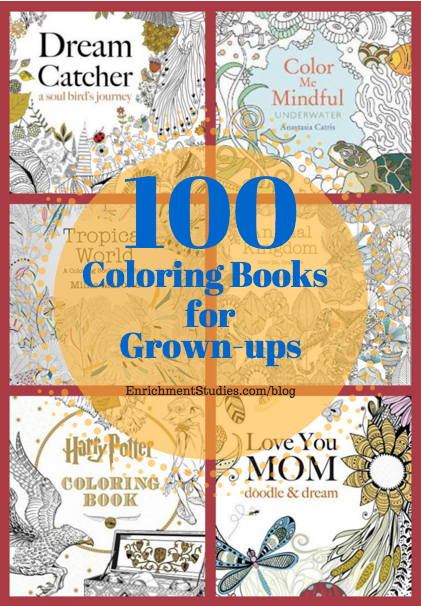 100 Coloring Books For Grown Ups