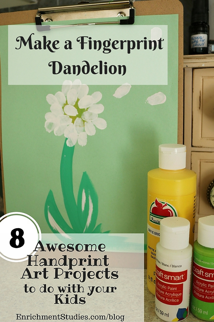 Make a Fingerprint Dandelion Painting