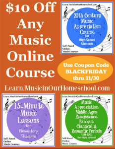 Music in Our Homeschool Black Friday Sale