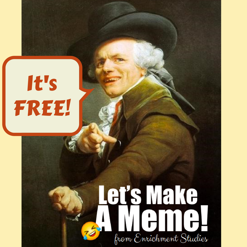 Let's Make a Meme Language Arts Activity...for FREE!