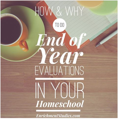 How & Why to do End of Year Evaluations in Your Homeschool