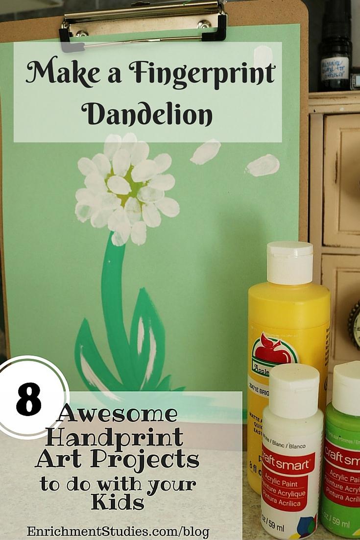 Make a Fingerprint Dandelion Painting