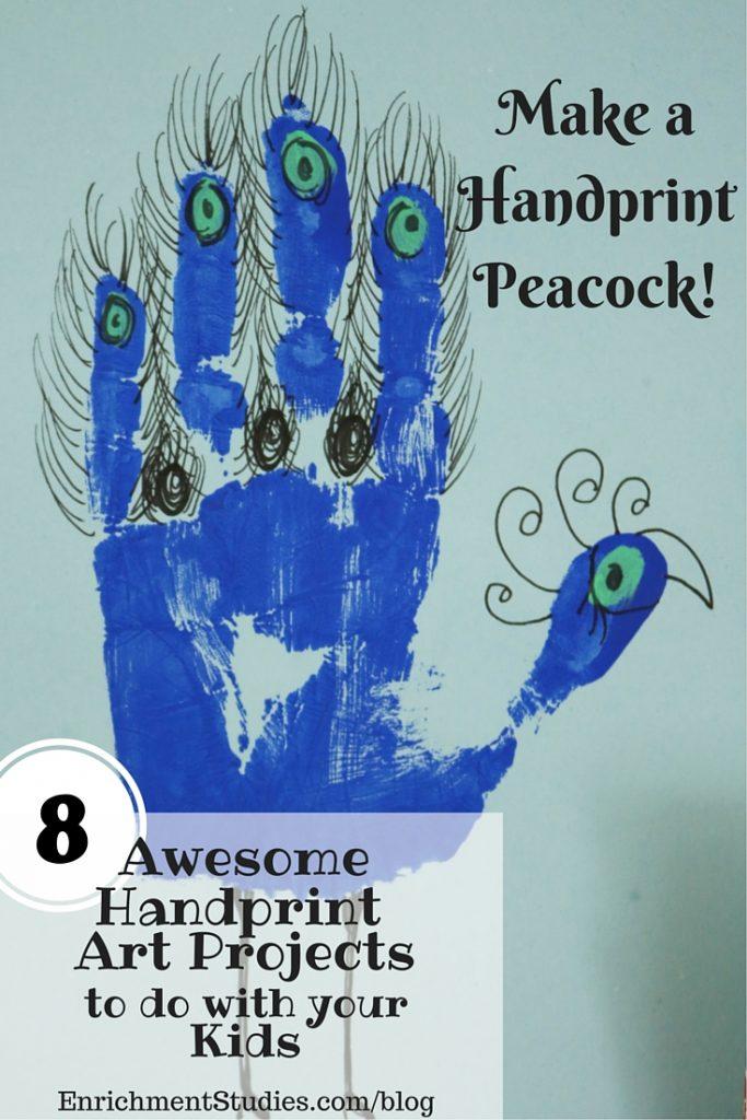 Make a Handprint Peacock Painting