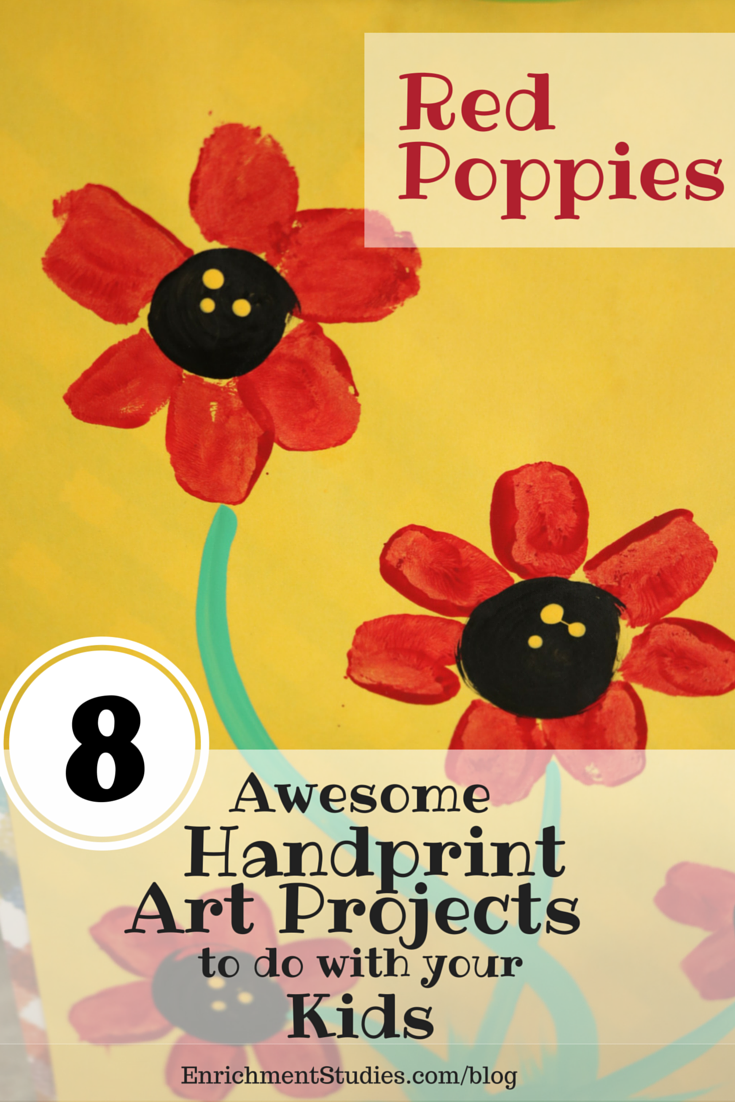 Red Poppies Handprint Art Project