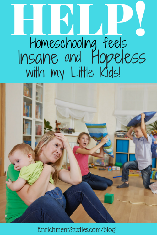 Help! Homeschooling feels insane and hopeless with my little kids!