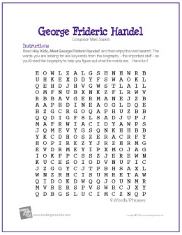 Handel word search