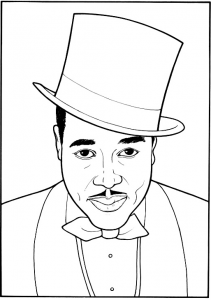 Duke Ellington coloring page 2