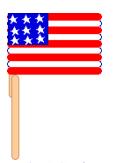 craft stick flag craft