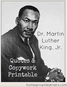 MLK copywork