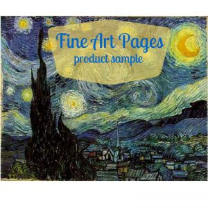 Fine Art Pages product sample graphic