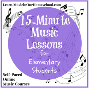 15 Minute Music Lessons for Elementary Students