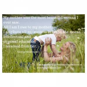 G Washington about mother
