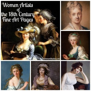 Women Artists 18th century graphic
