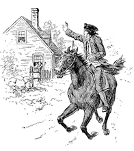 Paul Revere's Ride coloring page